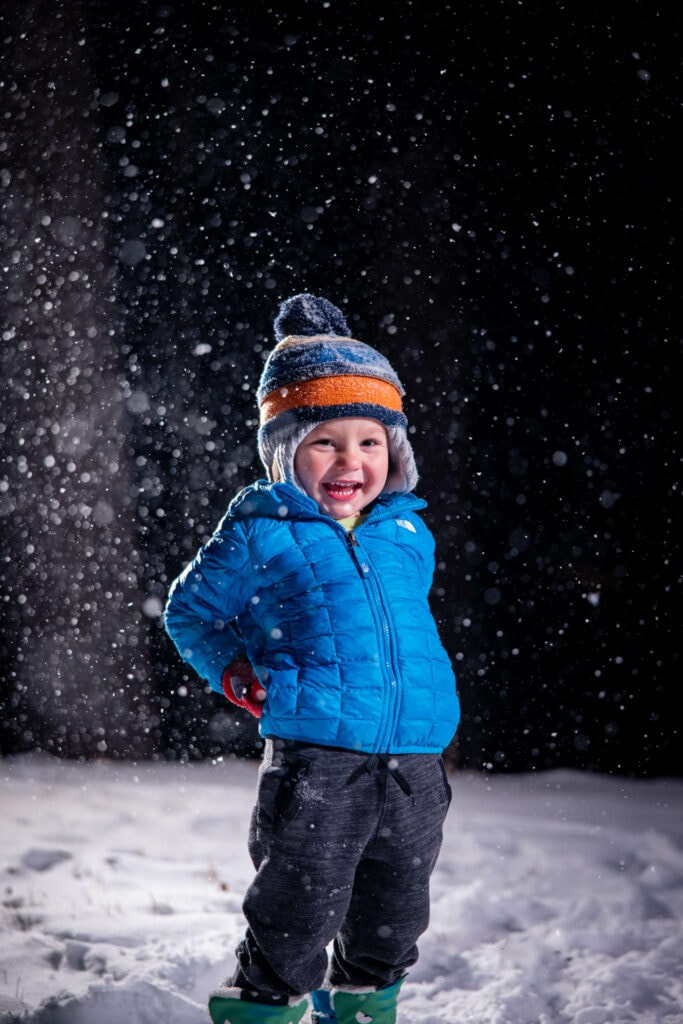 Winter Portrait Child La Crosse WI