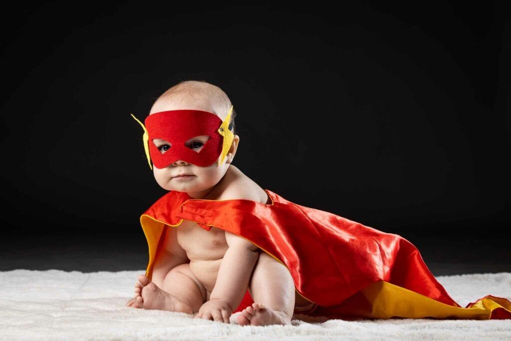 Superhero child portrait
