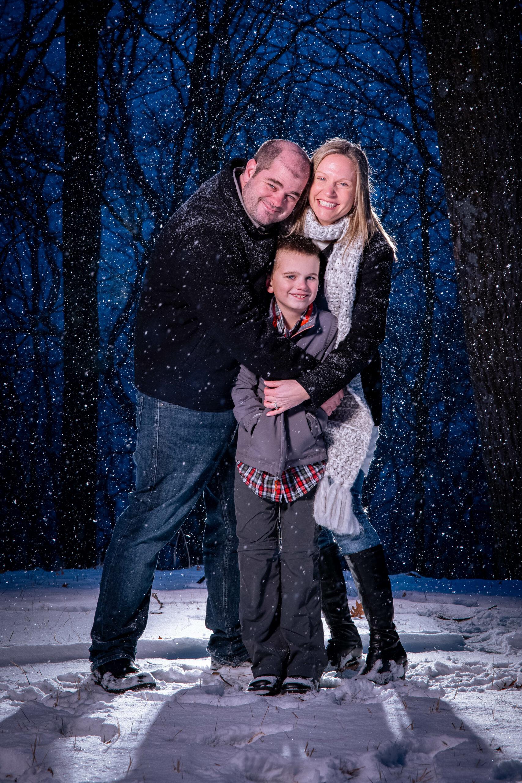 Family Winter Photo La Crosse WI