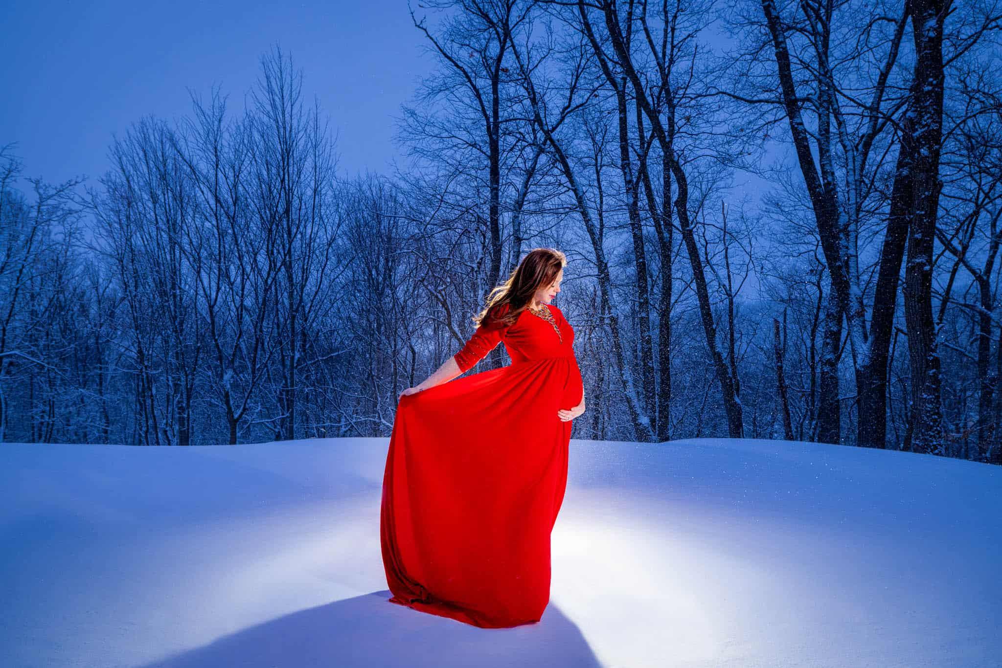 Maternity Red Dress