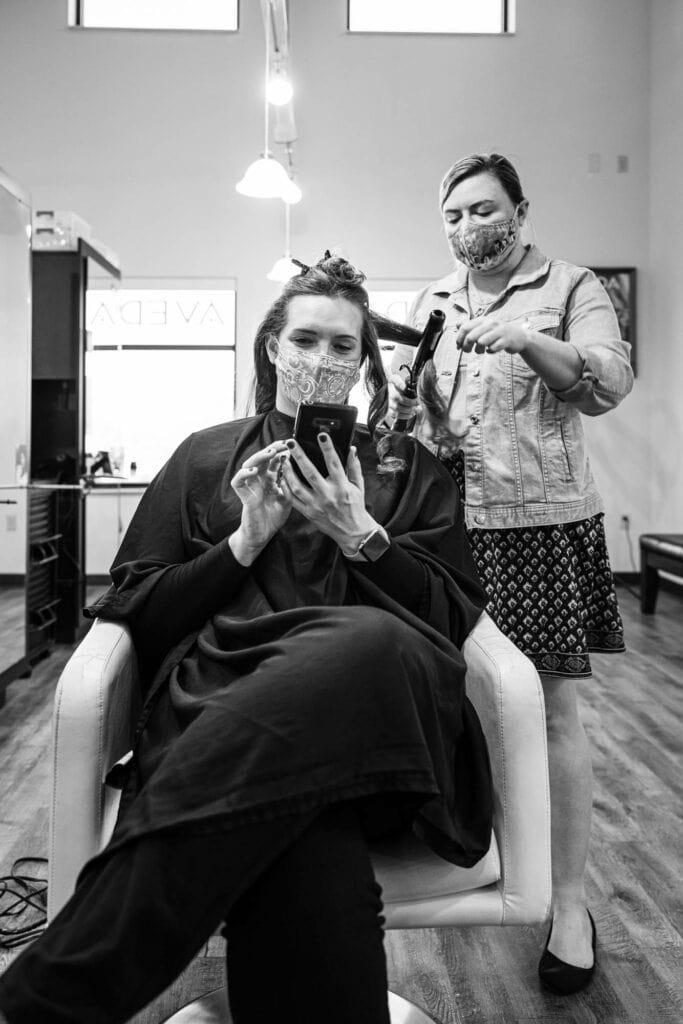 Hair styling photo by La Crosse, WI Photographer Jeff Wiswell
