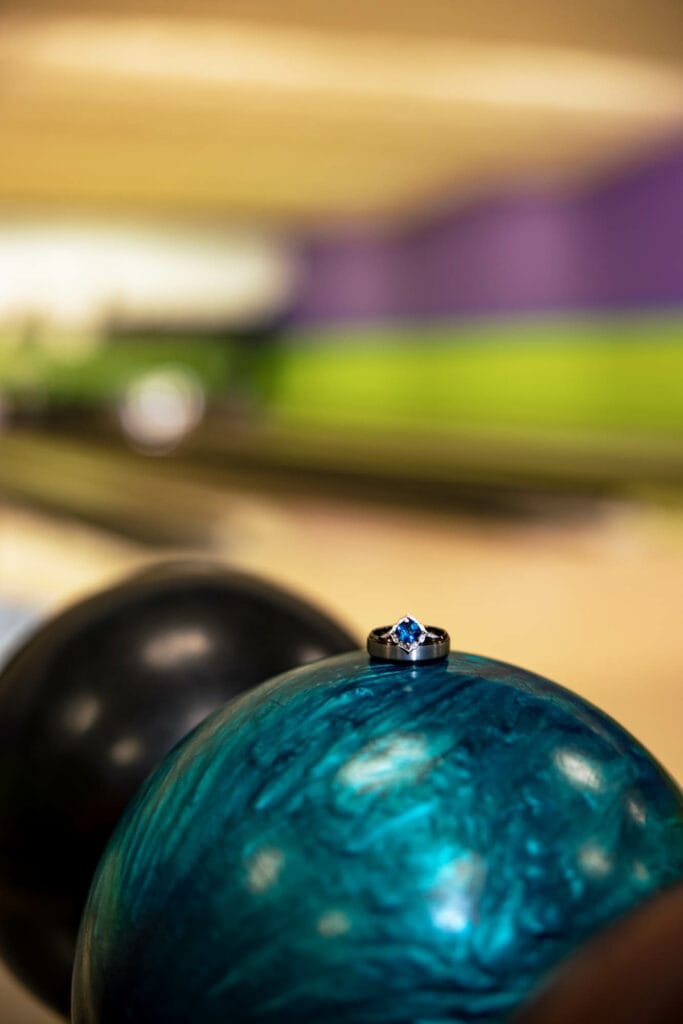Ring on bowling ball by La Crosse, WI Photographer Jeff Wiswell