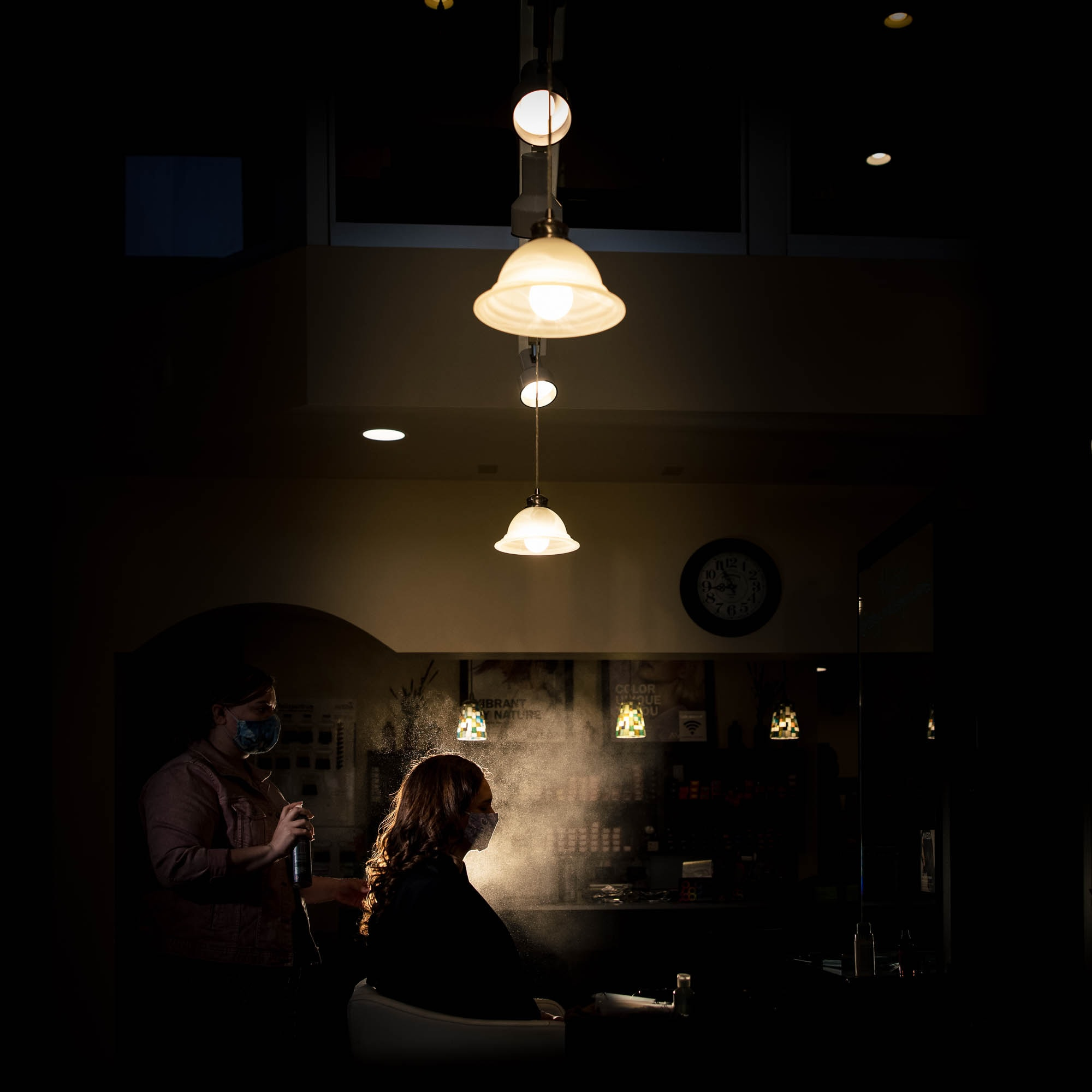 Salon Sitara hair spray by La Crosse, WI Photographer Jeff Wiswell
