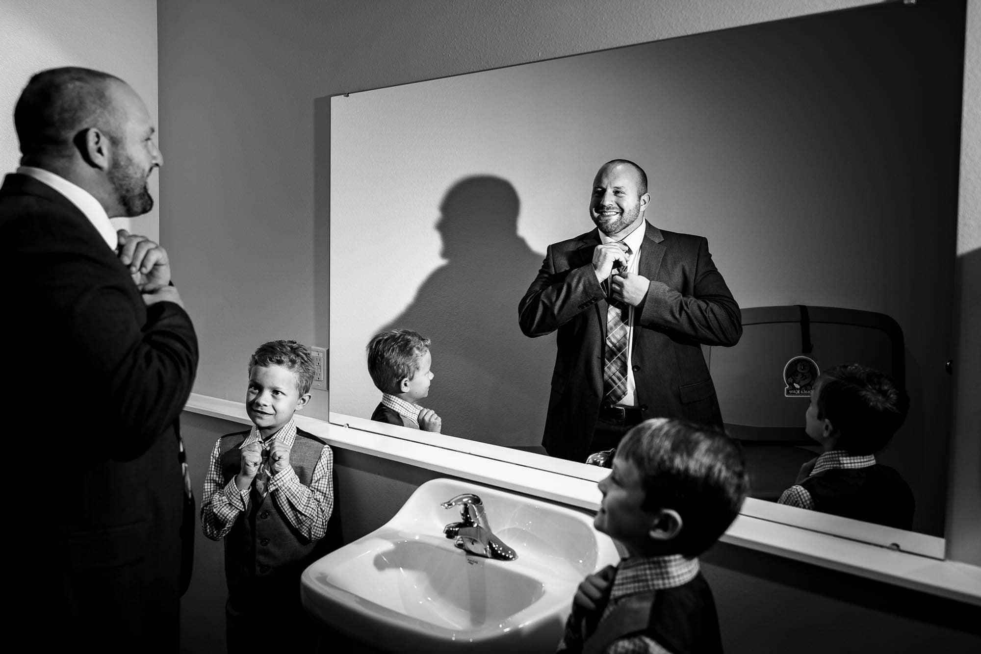 Tie a tie by La Crosse, WI Photographer Jeff Wiswell