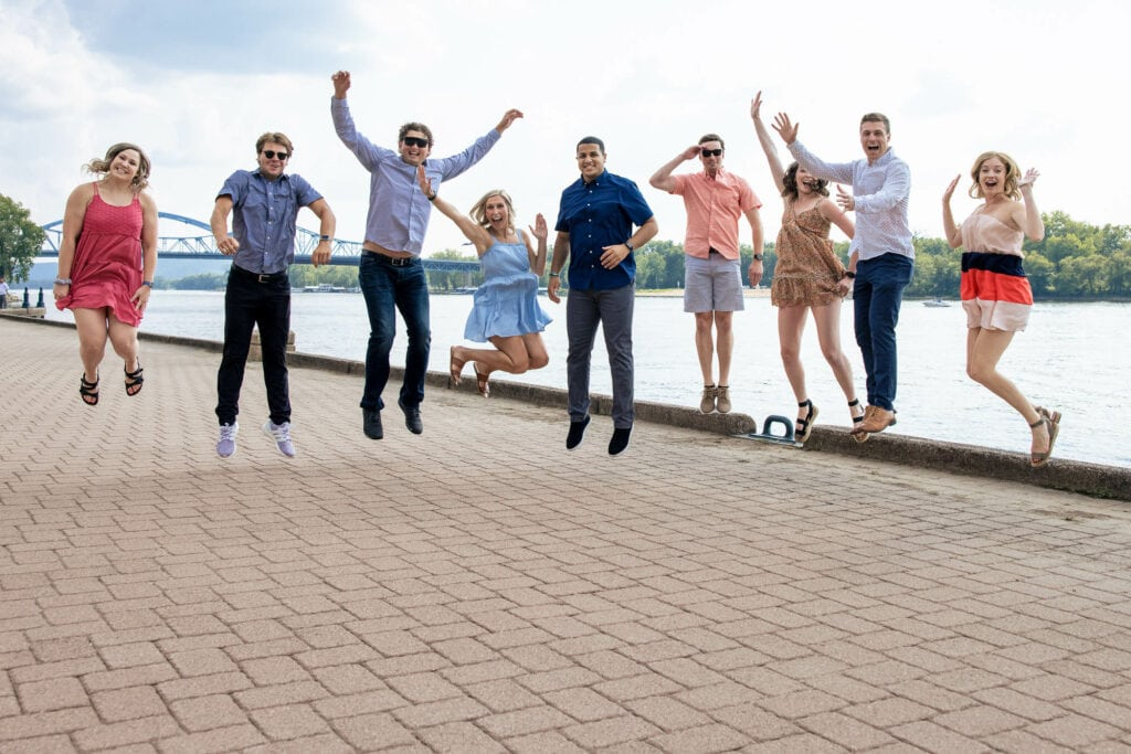 Riverside Park La Crosse Photos Jumping People by La Crosse, WI PhotographerJeff Wiswell of J.L. Wiswell Photography