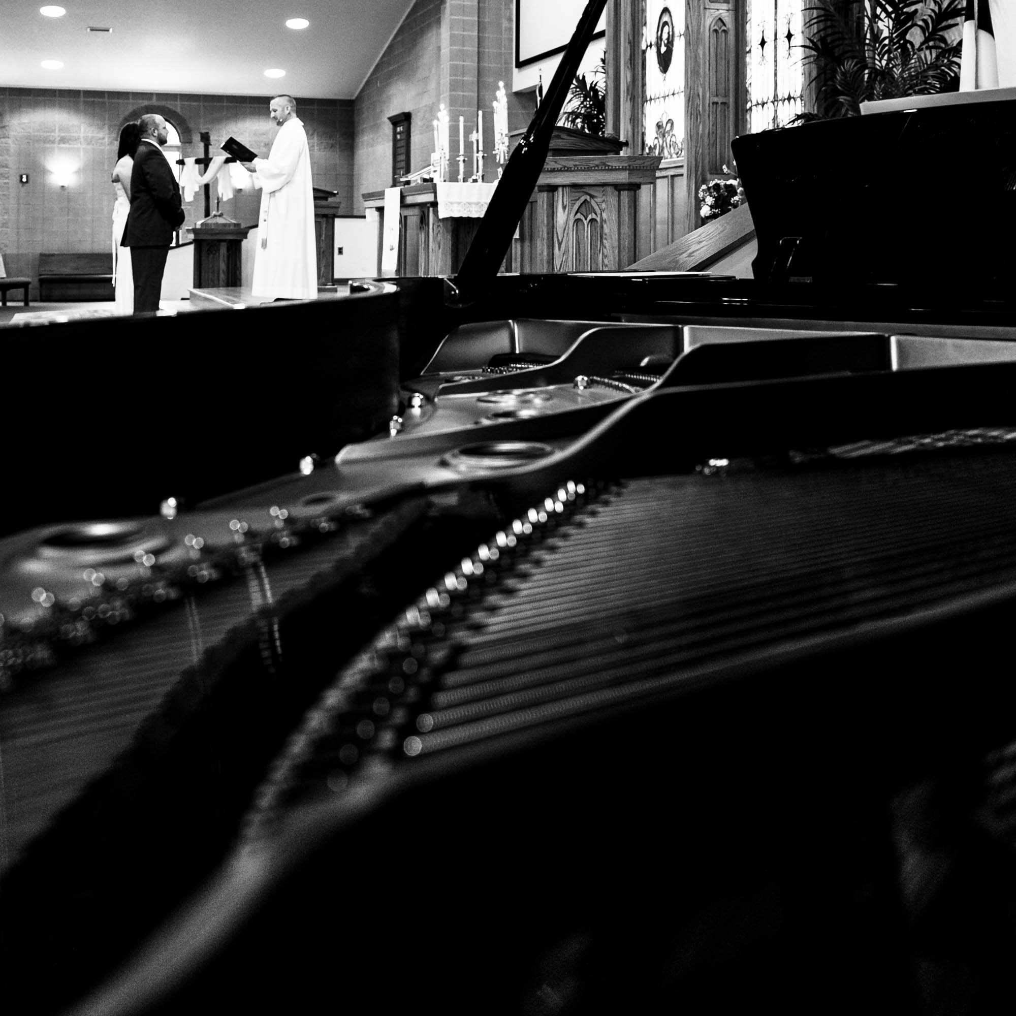 Piano t wedding by La Crosse, WI photographer Jeff Wiswell of J.L. Wiswell Photography