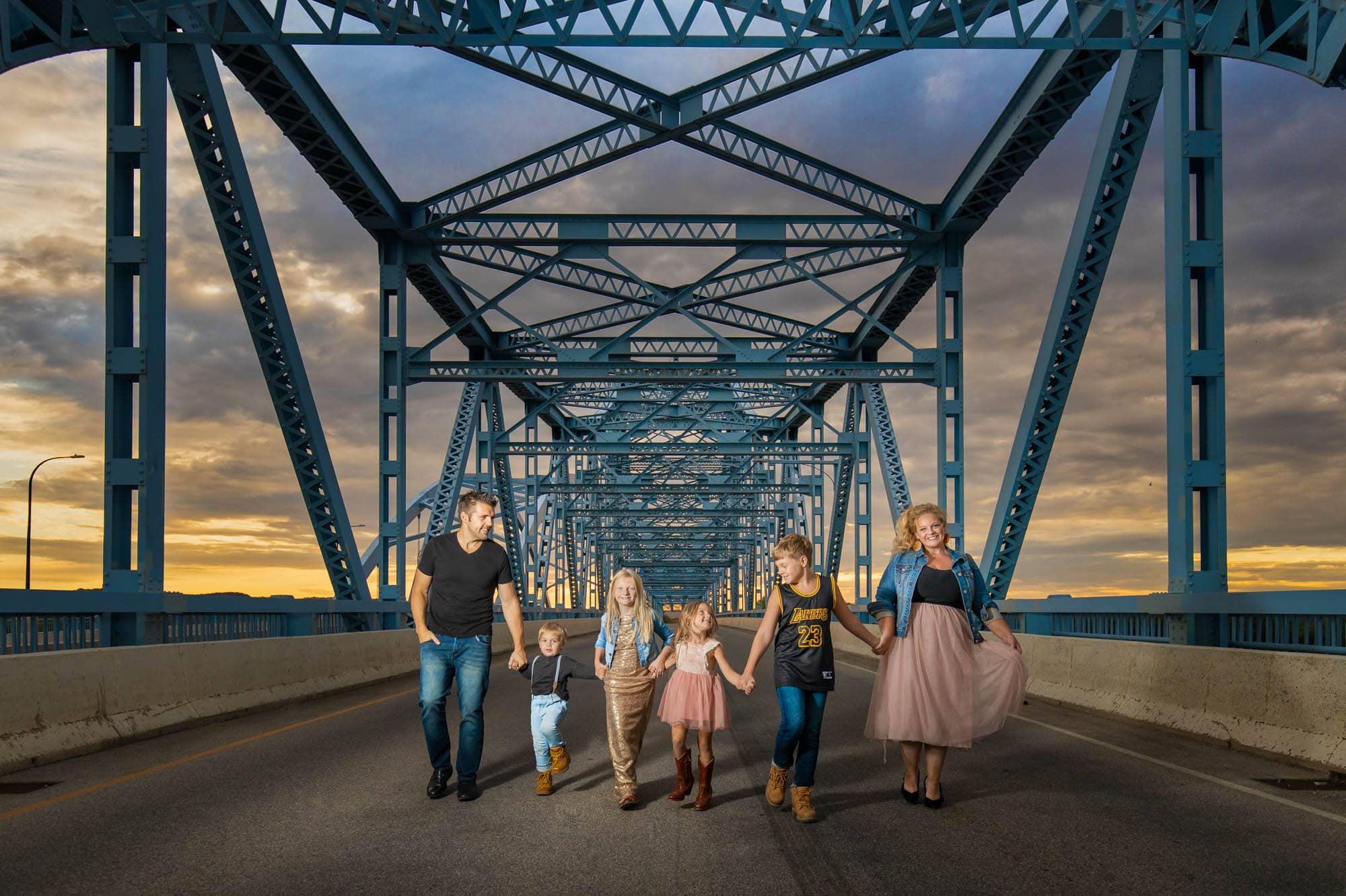 Cass Street Bridge Portrait by La Crosse Photographer J.L. Wiswell Photography